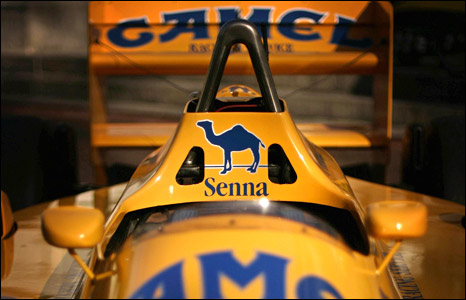 Aryton Senna's Lotus F1 car (Photo: SHAUN CURRY/AFP/Getty Images)