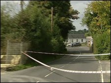 The PSNI are searching the area around the B36 road