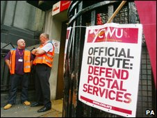 Union poster at sorting office in London
