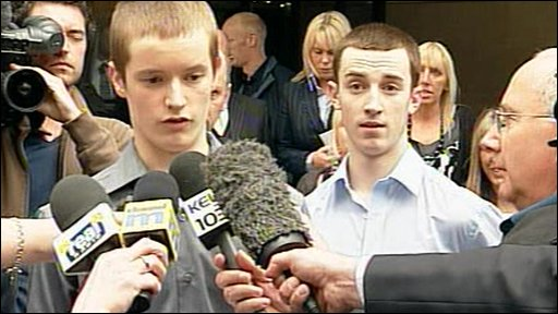 Matthew Swift, left, and Ross McNight, right