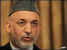Hamid Karzai on voting day, 20 Aug
