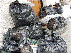 Bags at Mr Brett's home