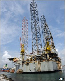 An oil rig off Ghana