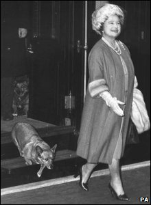 Queen Mother, returning from Sandringham February 1967