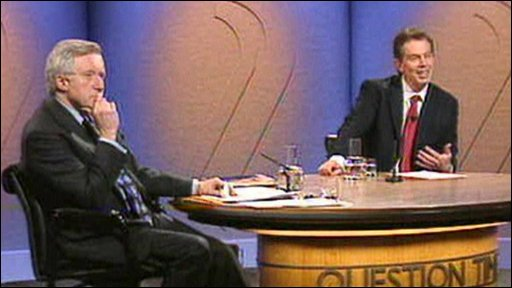David Dimbleby with Tony Blair