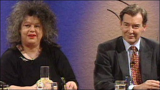 Jo Brand on the Question time panel with Ian Lang