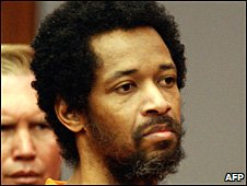Washington sniper John Allen Muhammad in a Virginia court on 9 March 2004