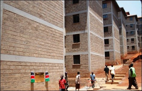 New flats near Kibera
