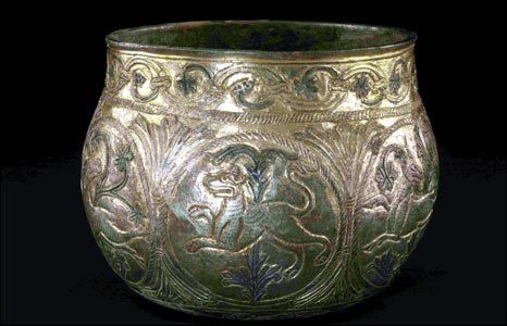 Silver-gilt vessel from the Vale of York Hoard. Picture: British Museum.