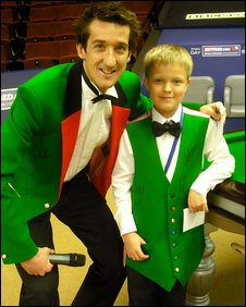 George meets snooker player Rob Walker