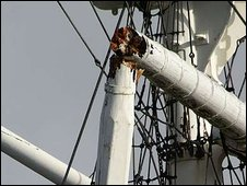 HMS Ganges mast, 2009