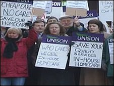 Yvonne Hossack was involved in campaigns to stop the closure of Staffordshire care homes