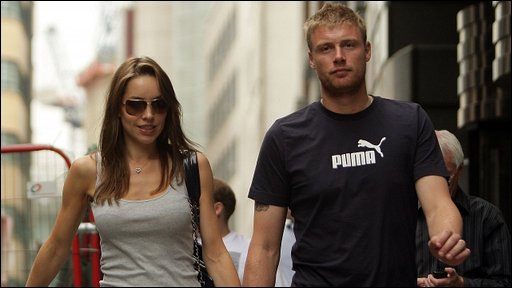 Rachel and Andrew Flintoff