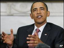 Barack Obama at the White House on 16 September