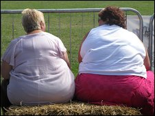 Two overweight women