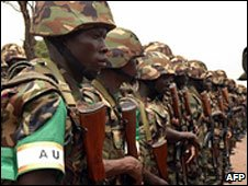 African Union troops going to Somalia