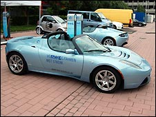 Tesla electric roadster