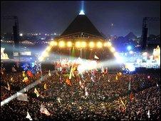 2009 Pyramid Stage at Glastonbury