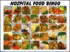 Hospital Food Bingo game