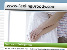 A screengrab from the Feelingbroody.com website