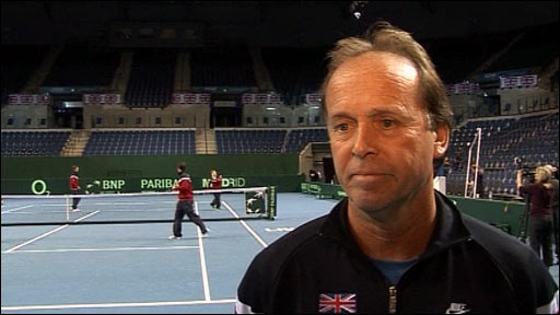 Great Britain Davis Cup team captain John Lloyd