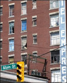 Run-down hotel in the DTES.