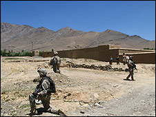 US troops in Wardak