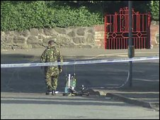 Two controlled explosions were carried out on a suspicious object