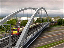 Artists impression of rail link
