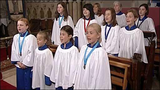 Choir sing at St Mary's Church in Funtington