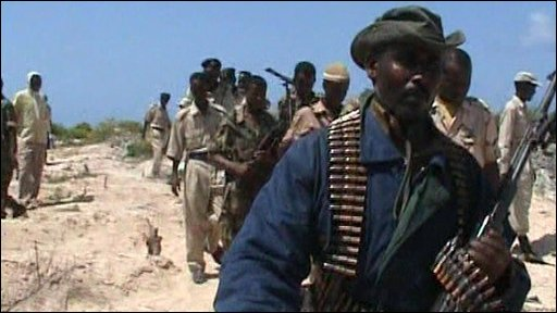 Somalian officials arrive with tight security