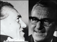 Adi (left) and Rudolf Dassler