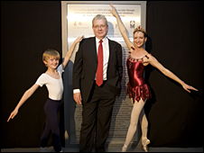 Culture Minister Mike Russell with dancers