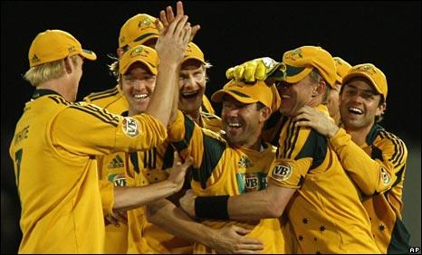 Australia congratulate Ponting