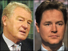 Lord Ashdown (left) and Nick Clegg