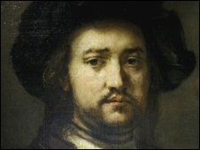 Rembrandt's Portrait of a Man, Half-Length With his Arms Akimbo (detail)