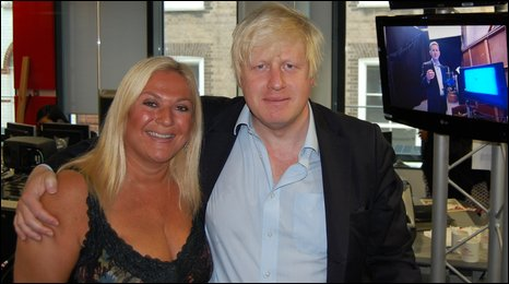 Vanessa Feltz and Boris Johnson