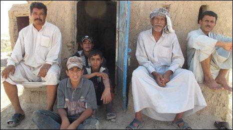 Villagers in al-Mazzagh, southern Iraq