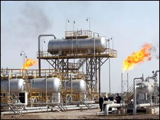 Chinese oil installation in Iraq