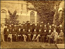Staff at Broadmoor hospital in 1885