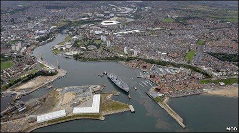 HMS Ocean in Sunderland