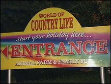 World of Country Life sign