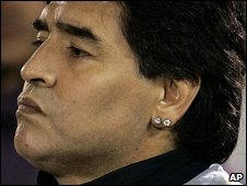 Archive photo of Maradona, 9 September 2009