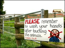Sign at Godstone Farm, Surrey