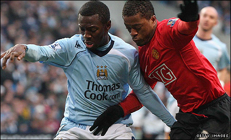 Shaun Wright-Phillips and Patrice Evra