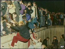 The fall of the Berlin Wall, Nov 1989