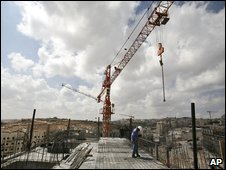 Building work  at Har Homa in east Jerusalem