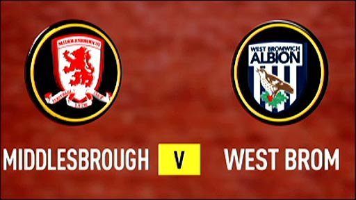 Middlesbrough v West Bromwich Albion