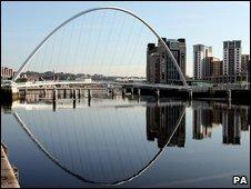 River Tyne between Newscastle and Gateshead