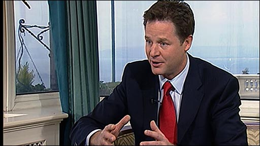 Liberal Democrat leader Nick Clegg MP